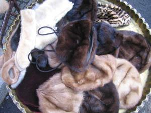 fur hats Berlin fleamarket