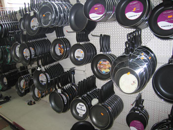 Latifs warehouse Birmingham frying pans