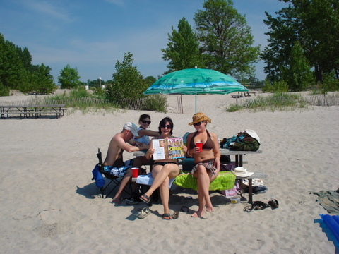 picnic on Wasaga beach