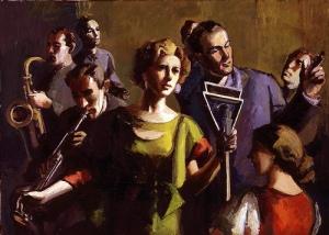 Radio Broadcast, 1934 Julia Eckel, oil on canvas;